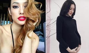 Sao Việt 23/11: Lilly Nguyễn bị nghi không mặc áo, Hà Lade khoe bụng bầu