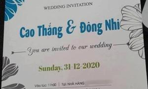 Sự thật về tấm thiệp cưới in tên của Đông Nhi - Ông Cao Thắng