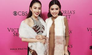 Lê Hà, Ngọc Duyên 'đột nhập' hậu trường Victoria's Secret show