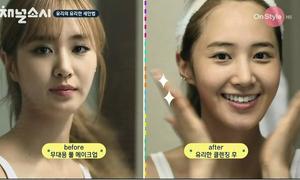 Loạt sao Hàn tẩy trang, lộ mặt mộc trên truyền hình
