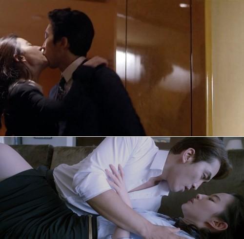 ảnh nóng cùng Song Seung Hun trong Tình yêu thứ ba