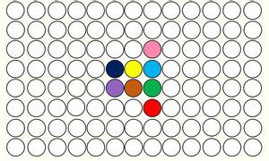 Thị lực 10/10 nếu bạn có thể chọn đúng chấm màu ở trung tâm bức ảnh trong 1 phút