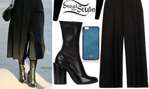 Bốt lửng - quần culottes: Bộ đôi đẹp lạ cho mùa đông