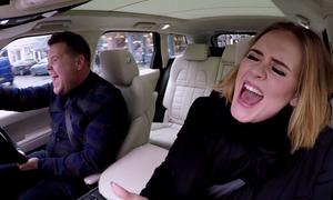 Video hot nhất thế giới 2016: Adele hát trên xe