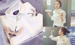Eun Jung mặc áo của thương hiệu Việt trong ngày sinh nhật