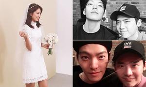 Sao Hàn 15/12: Lee Jong Suk hẹn hò Kim Woo Bin, Park Shin Hye diện váy cưới