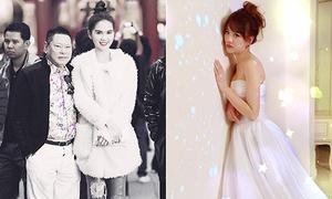 Sao Việt 20/12: Ngọc Trinh 'dìm' chiều cao bạn trai, Hari Won mảnh mai với váy cưới