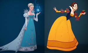 Khi các nàng công chúa Disney được chưng diện đúng giai đoạn lịch sử