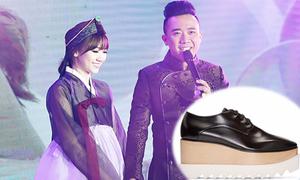 Trấn Thành đi giày nữ cao gần 10 phân để xứng đôi với Hari trong lễ cưới