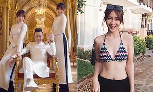 Sao Việt 3/1: Trấn Thành có một lúc hai 'vợ', Khả Ngân khoe body gợi cảm
