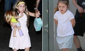 Công chúa Harper nhà Becks càng lớn càng diện đồ xuề xòa