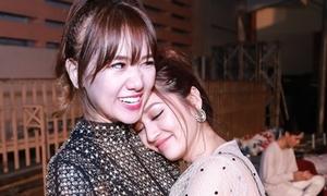 Hari Won cưng nựng Bảo Anh trong hậu trường