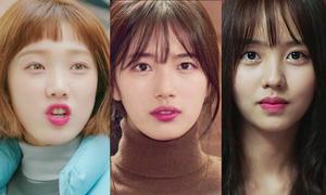 Bất chấp mọi xu hướng, son hồng luôn là lựa chọn của nữ chính phim Hàn