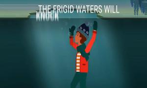 Cách thoát hiểm khi rơi xuống hồ nước đóng băng