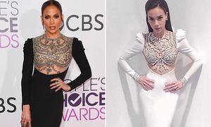Jennifer Lopez bị nghi mặc đầm nhái... Hà Hồ