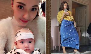 Sao Việt 20/1: Con gái Hồng Quế như búp bê, Hoàng Thùy Linh quấn chăn làm váy