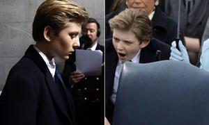 Barron Trump gây sốt với loạt biểu cảm 'vừa soái vừa yêu'