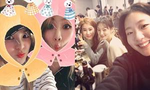 Sao Hàn 24/1: Bộ ba mỹ nữ 'Goblin' tụ hội, Dara đọ kute với CL