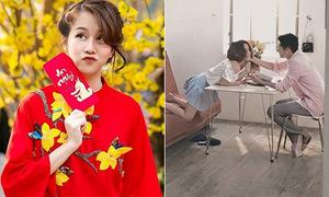 Sao Việt 24/1: An Nguy điệu đà áo dài, Thái Trinh âu yếm Quang Đăng