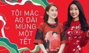 Sao Việt rần rần theo trào lưu mặc áo dài mùng 1 Tết