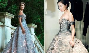 Sao Việt đẹp không kém khi đụng đầm tân Hoa hậu Hoàn vũ