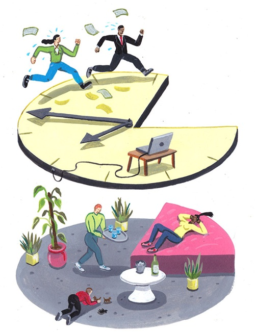 Nhiều người đang dành quá nhiều thời gian chạy theo công việc, tiền bạc thay vì sống thực sự.