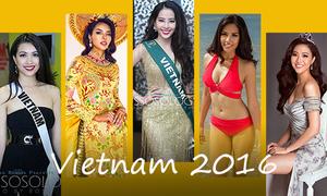 Việt Nam tụt hạng trên bảng xếp hạng nhan sắc 2016
