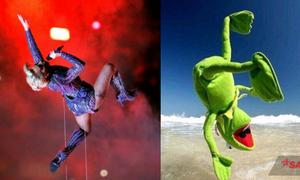 Ảnh chế động tác biểu diễn gây cười của Lady Gaga