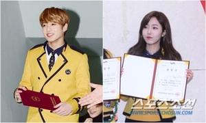 Jung Kook tươi rói, SinB giữ vẻ lạnh lùng khó hiểu trong lễ tốt nghiệp