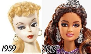 Thay đổi khuôn mặt và cách makeup của búp bê Barbie trong 50 năm