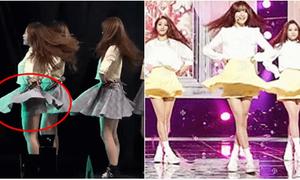 Váy 2 lớp là item chống 'hớ hênh' mới của nhóm nhạc nữ Hàn