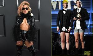 Grammy 2017: Được xướng tên, sao... lột quần để lên nhận giải