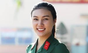Nhan sắc nữ xạ thủ tình nguyện nhập ngũ tại TP HCM