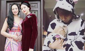 Sao Việt 17/2: Mẹ Huyền Baby như hoa hậu, Kelvin Khánh mặc đồ đôi với cún