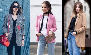 Áo phông - blazer - jeans: Set đồ người sành điệu phải có