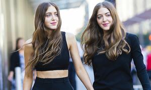 Cặp mẫu sinh đôi 23 tuổi sành điệu nhất Hollywood