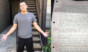 Bạn gái đòi chia tay rồi lại viết thư xin lỗi, chàng trai đáp trả bất ngờ