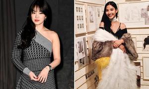 Hoàng Thùy, Song Hye Kyo sành điệu dự show Burberry