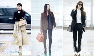 3 'Girl Crush' hàng đầu Kbiz mỗi người một vẻ ở sân bay