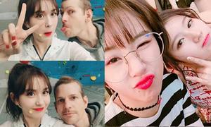 Sao Hàn 26/2: Chae Young đọ kute với Sana, Somi khoe bố Tây điển trai
