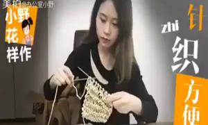 'Thánh ăn' công sở tự làm mì ăn liền bằng que đan len