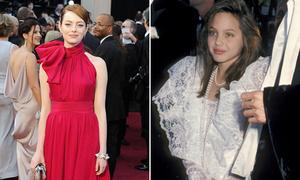 Sao trông thế nào trong lần đầu tiên dự giải Oscar