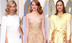 Thảm đỏ Oscar 2017: Cuộc chiến váy áo lộng lẫy của sao