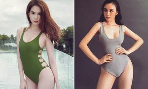 Sao chứng minh 'dáng chuẩn không cần photoshop' trong hậu trường chụp bikini