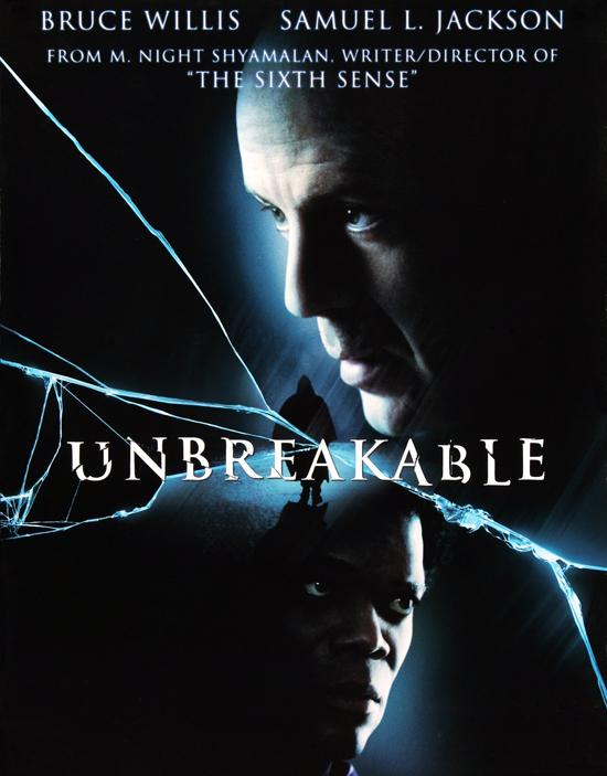 Poster của Unbreakable cũng có thiết kế chi tiết đường kính nứt vỡ giống như poster của Split.