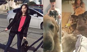 Sao Hàn 4/3: Jessica tạo dáng mặc tóc rối