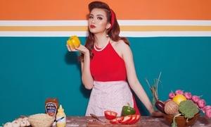 Diễm Hương: 'Dù vào bếp hay lau nhà đều phải xinh đẹp'