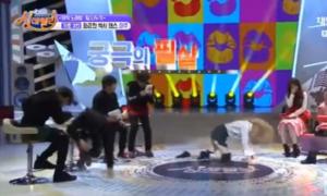 Dàn MC nam đồng loạt che mặt khi 'idol nữ ngây thơ' nhảy sexy