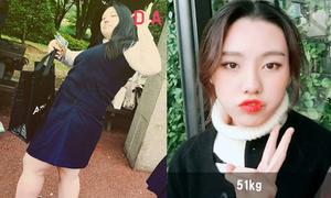 Nữ sinh Hàn nặng 1 tạ 'lột xác' như hot girl nhờ giảm 50 kg