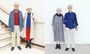 Cặp đôi 'ông bà anh' người Nhật gây sốt vì mặc đồ đôi trong 37 năm